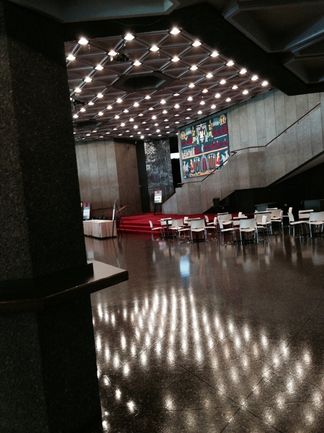 """Lost"" in Ottawa - admiring the deserted NAC on a Tuesday afternoon."