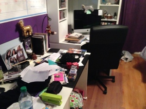 My creative workspace. It's organized chaos to me.